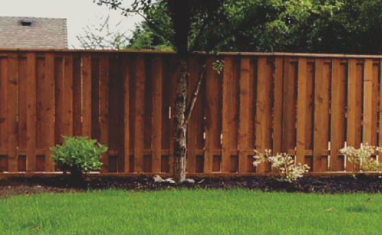 Wooden fences are affordable and provide natural beauty. We use the best wood materials so that your wood fence lasts for a very long time. Wooden fences are customizable as well, with many styles, paint, and stain to choose from.