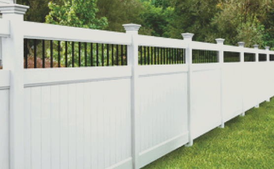 Vinyl fences are very popular in our area. It provides beauty and adds so much value to any property. Vinyl comes in many different color options and styles to choose from. Vinyl is very durable and flexible and can handle various weather conditions.